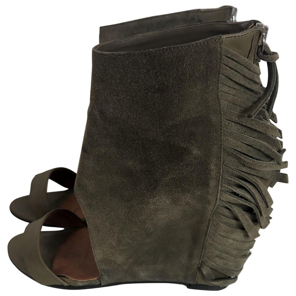 Iro - Sandales   pour femme en cuir - kaki