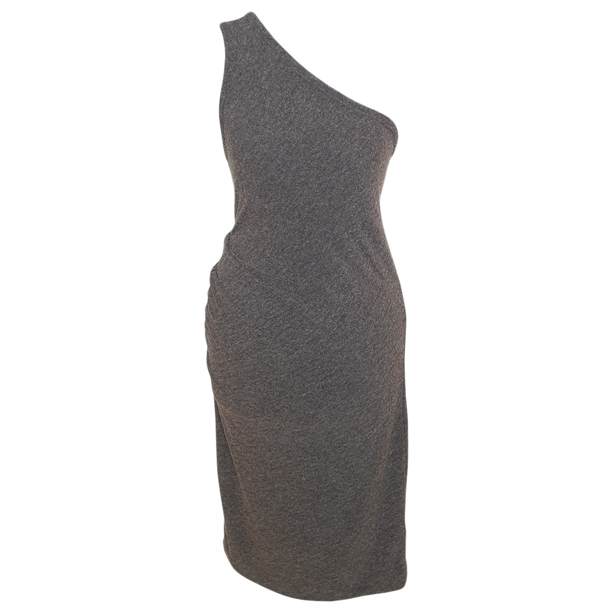 T By Alexander Wang \N Kleid in  Anthrazit Polyester