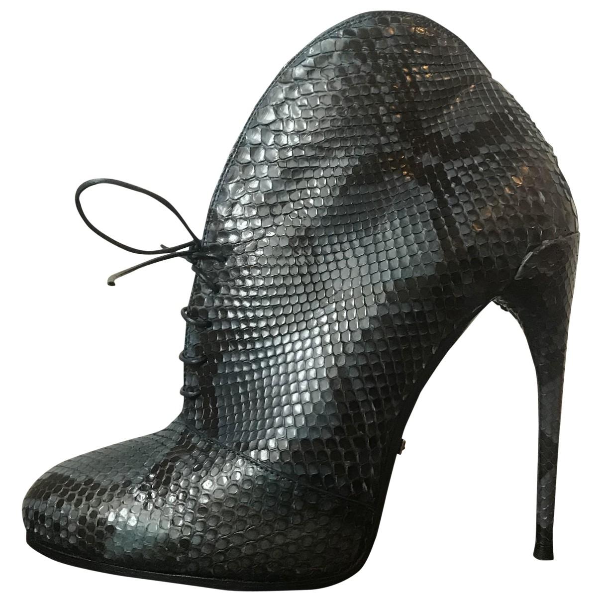 Gucci - Boots   pour femme en python - bleu