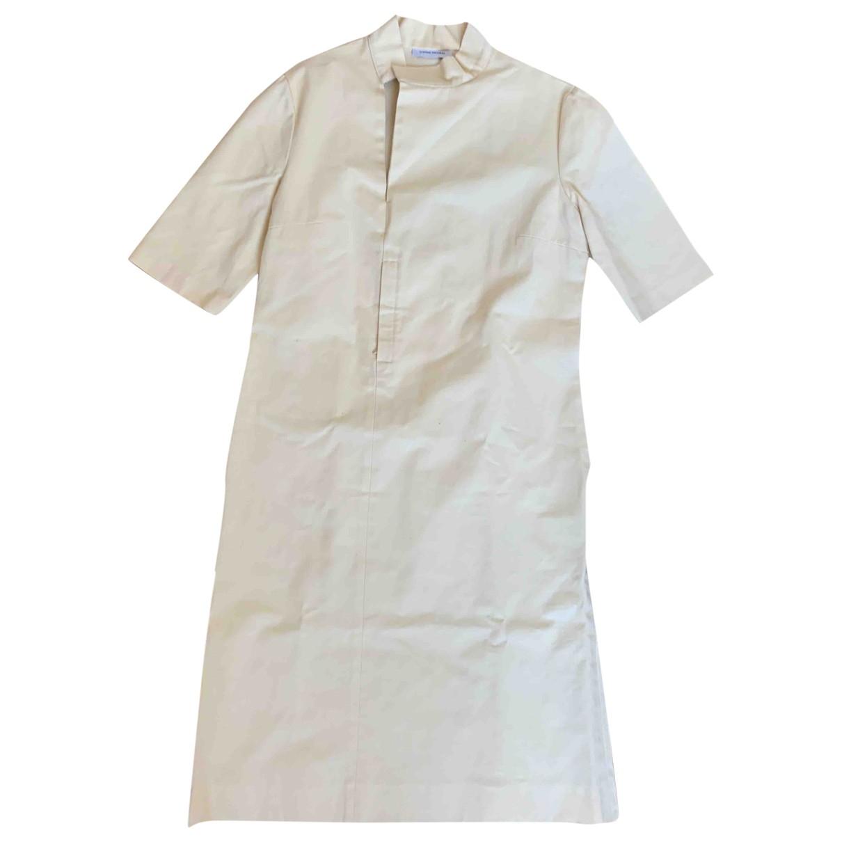 Costume National - Robe   pour femme en coton - jaune