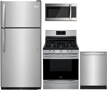 4 Piece Kitchen Appliances Package with FFTR1821TS 30