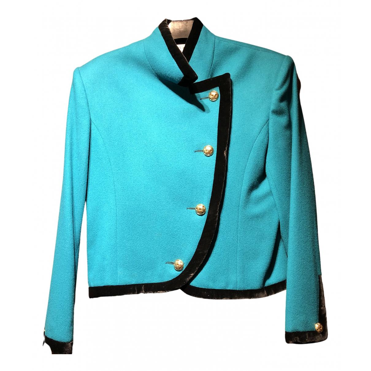 Charles Jourdan N Blue Wool jacket for Women 38 FR