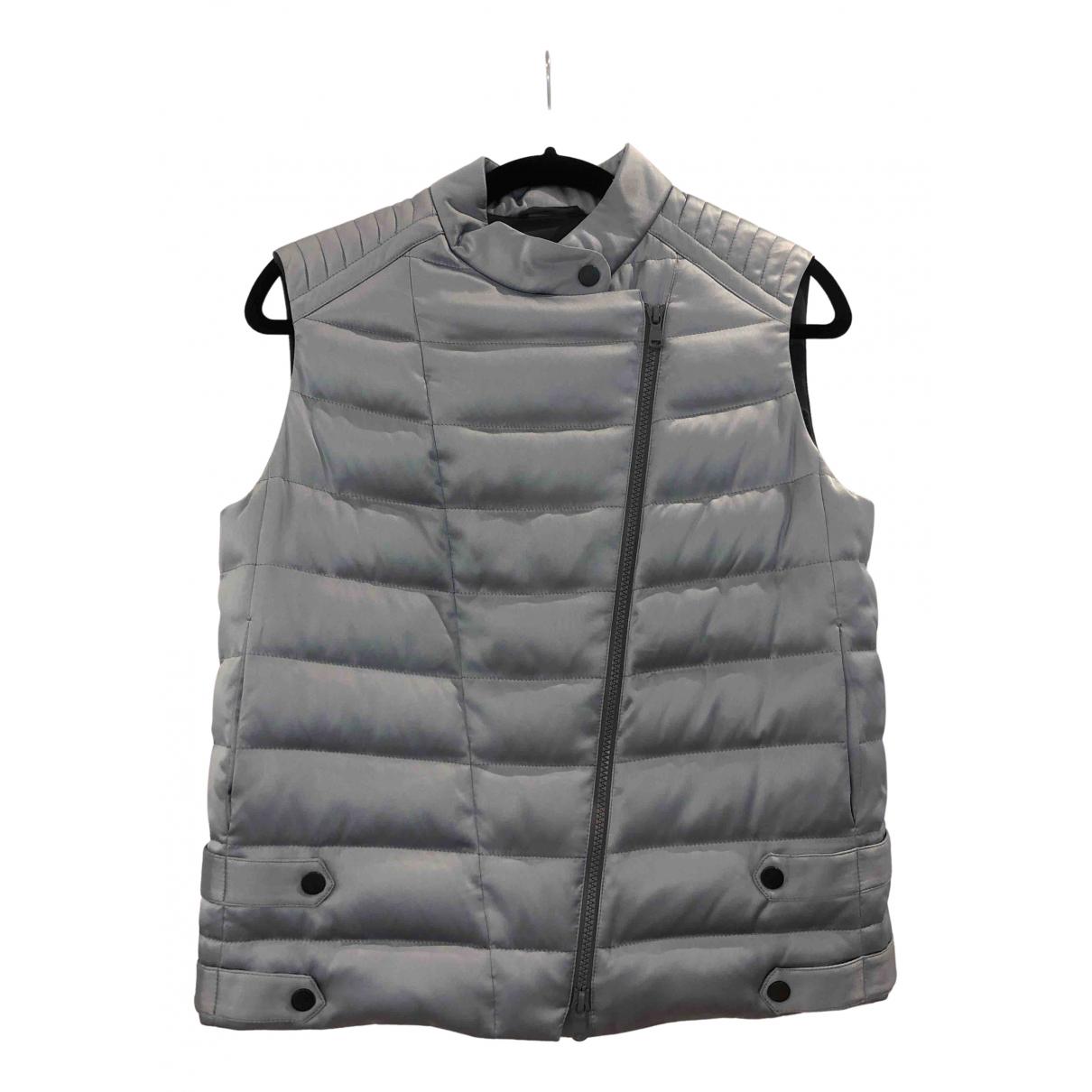 Brunello Cucinelli N Grey Silk coat for Women 42 IT