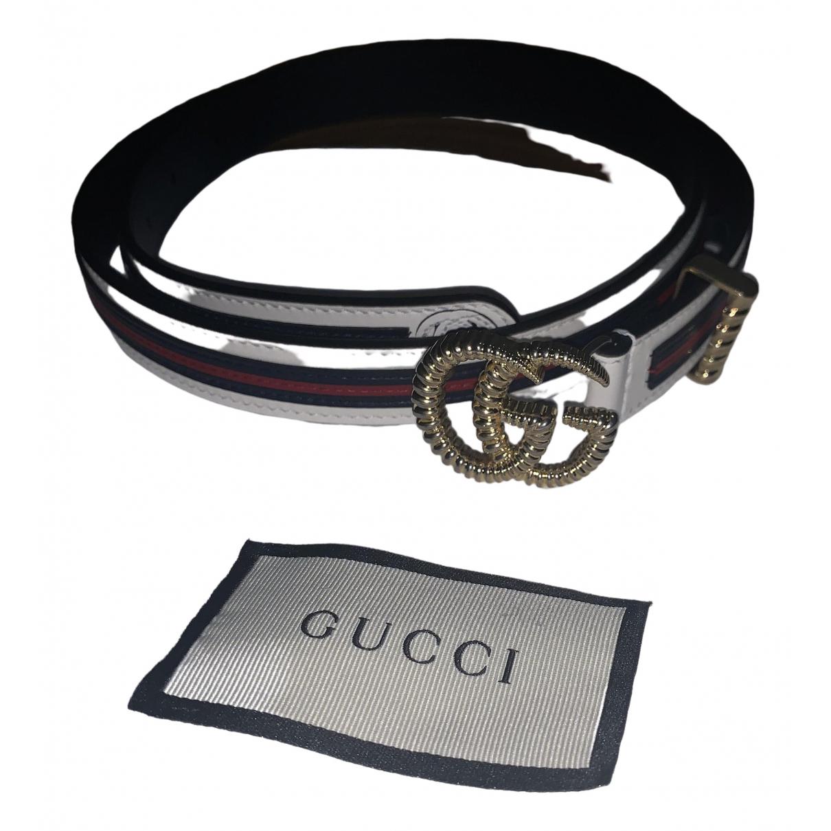Gucci GG Buckle Guertel in  Bunt Leder