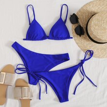 3pack Triangle Tie Side Co-ord Bikini Swimsuit