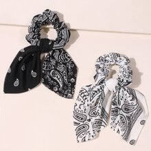 2 Stuecke Schal mit Paisley Muster