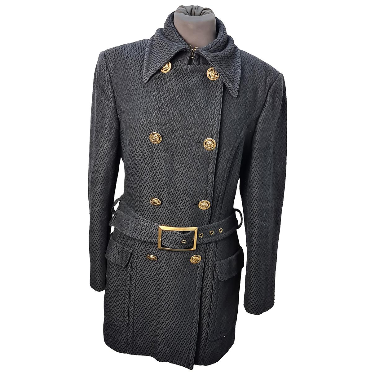 Versace - Manteau   pour femme - noir