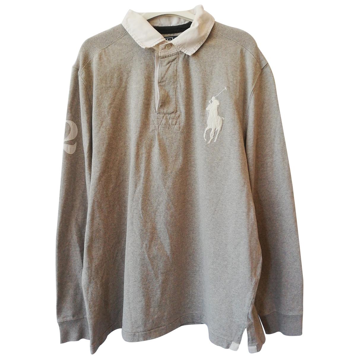 Polo Ralph Lauren Polo classique manches longues Grey Cotton Polo shirts for Men L International