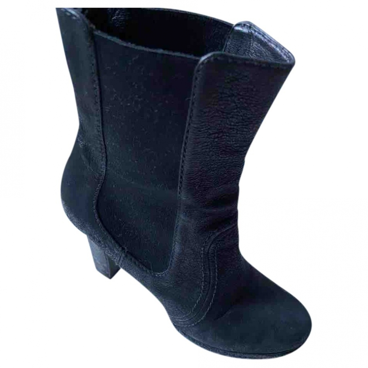 Prada \N Black Suede Ankle boots for Women 38.5 IT