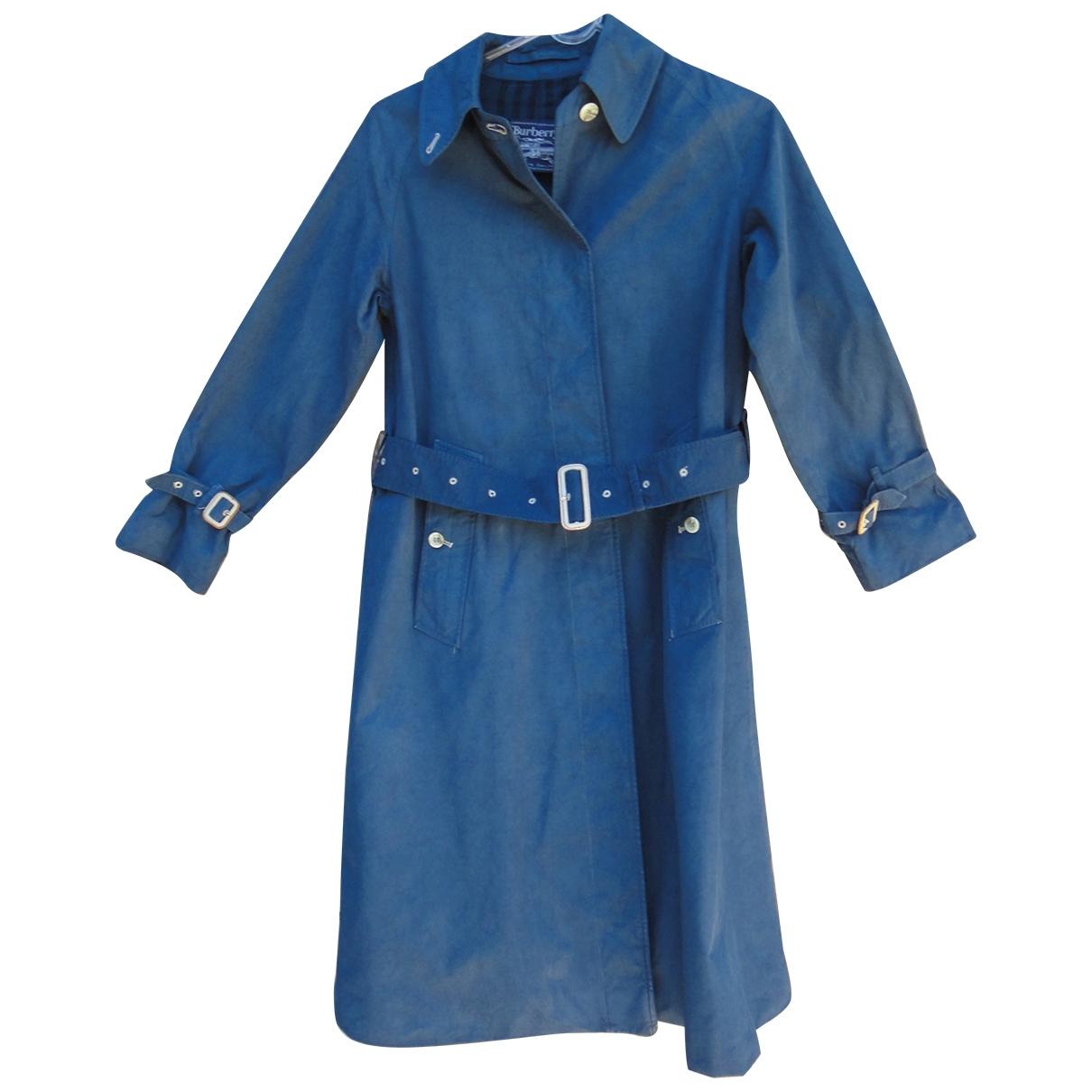 Burberry - Manteau   pour femme en coton - bleu