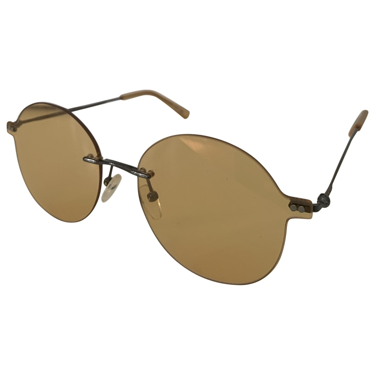 Non Signé / Unsigned \N Yellow Sunglasses for Women \N