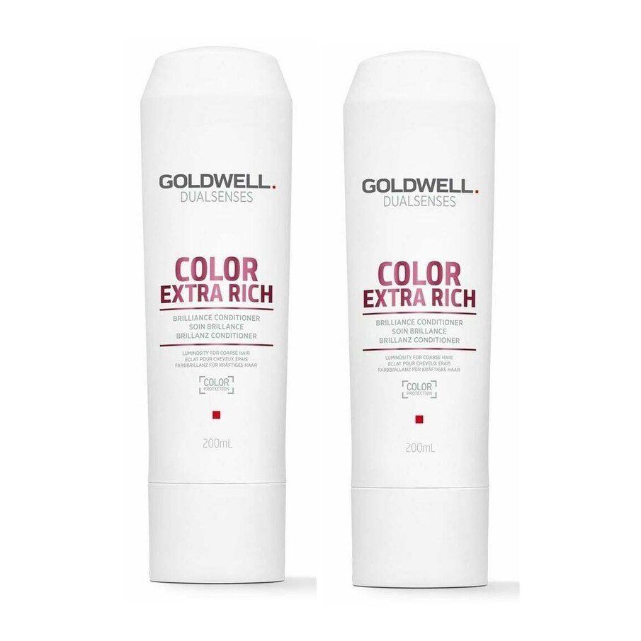 Goldwell Color Extra Rich Brilliance Conditioner 10.1 Ounce Pack Of 2 (Antibacterial)