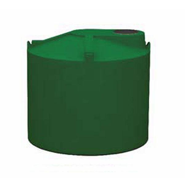 Round Rain Harvest Tank System, 600 gallon, Green