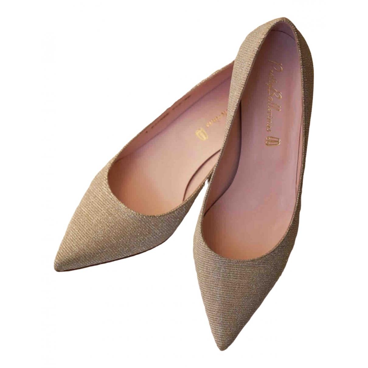 Pretty Ballerinas \N Gold Cloth Heels for Women 40 EU