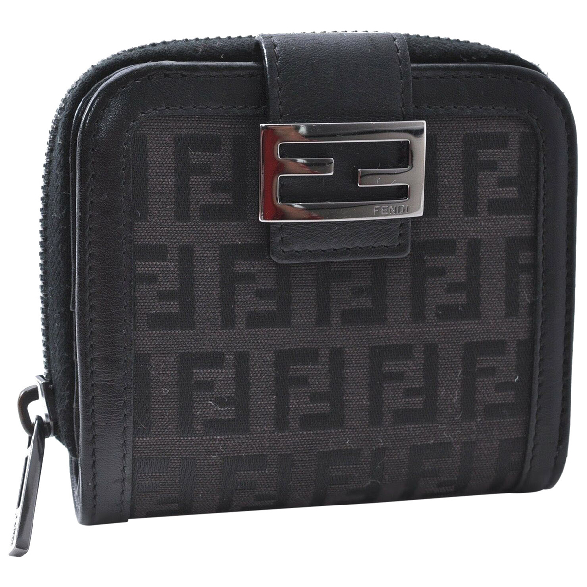 Fendi N Black Cloth wallet for Women N