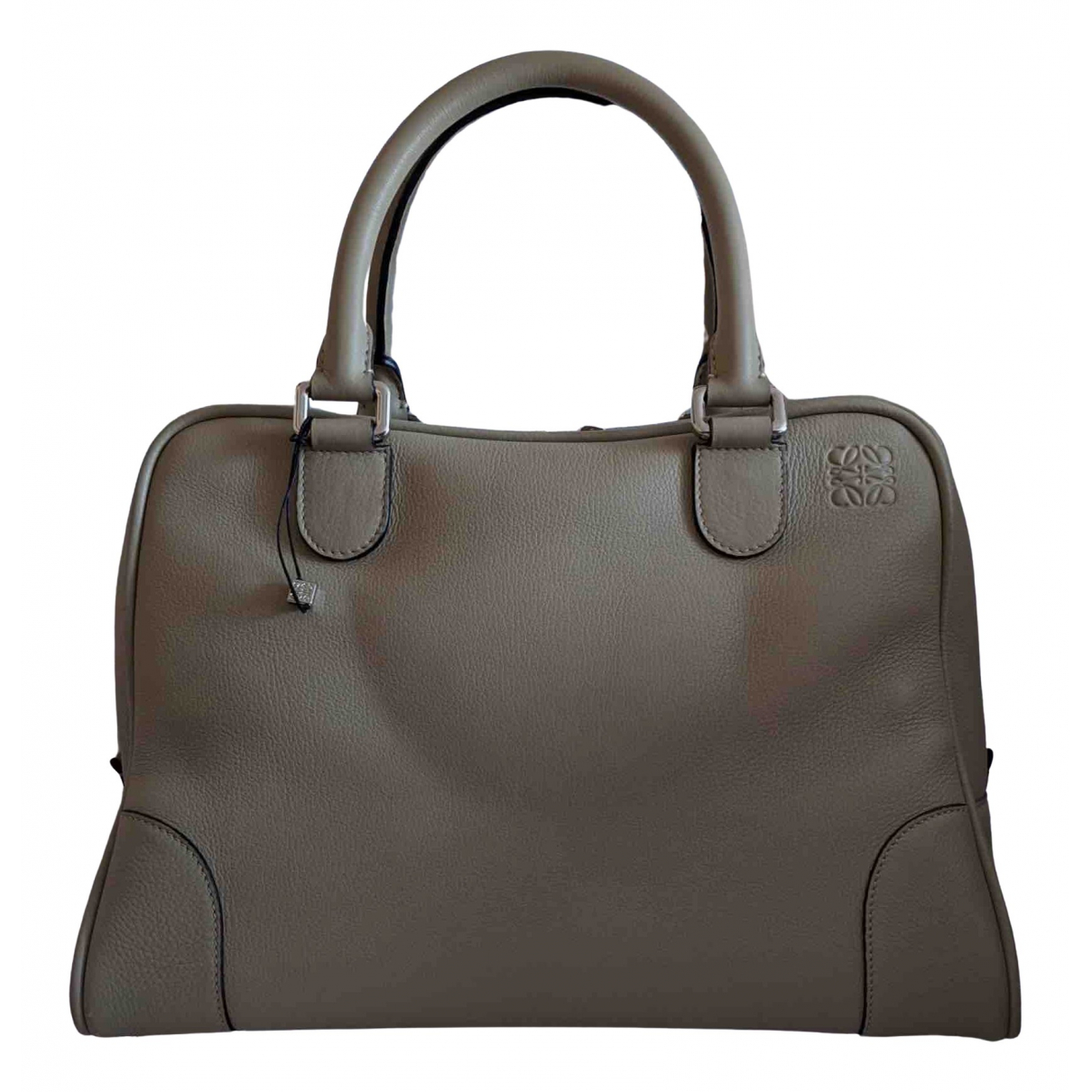 Loewe Amazona 75  Beige Leather handbag for Women \N
