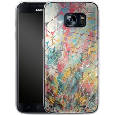 Samsung Galaxy S7 Silikon Handyhuelle - Spider Explosion von Danny Ivan