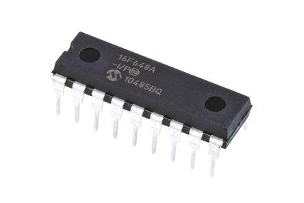 Microchip PIC16F648A-I/P, 8bit PIC Microcontroller, PIC16F, 20MHz, 4096 x 14 words, 256 B Flash, 18-Pin PDIP