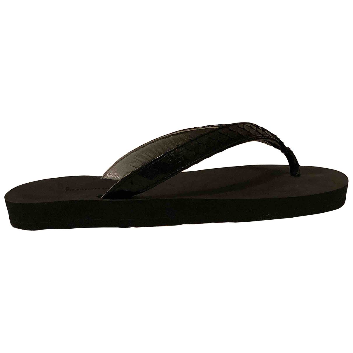 - Sandales   pour homme en cuir - noir