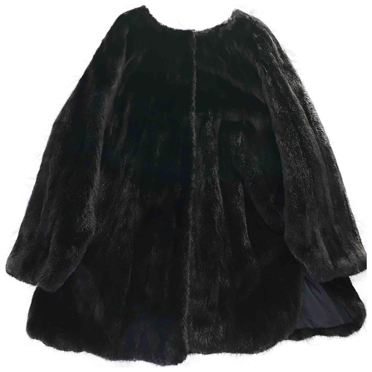 - Blouson Oversize pour femme en vison - noir