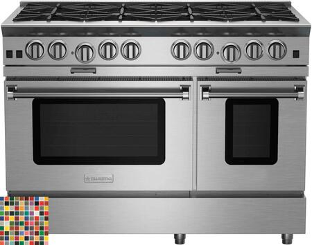 BSP488BCC 48 Platinum Series Freestanding Range with 8 Burners  Interchangeable Griddle Charbroiler  Full Motion Grates  Efficient PowR Oven and
