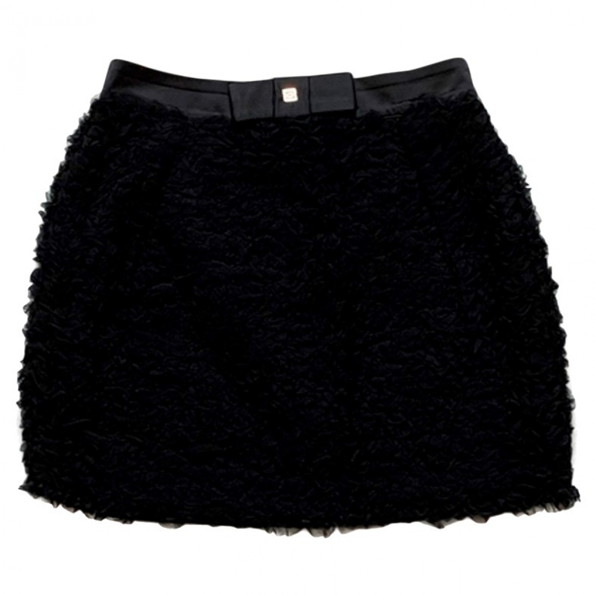Elisabetta Franchi - Jupe   pour femme en coton - elasthane - noir