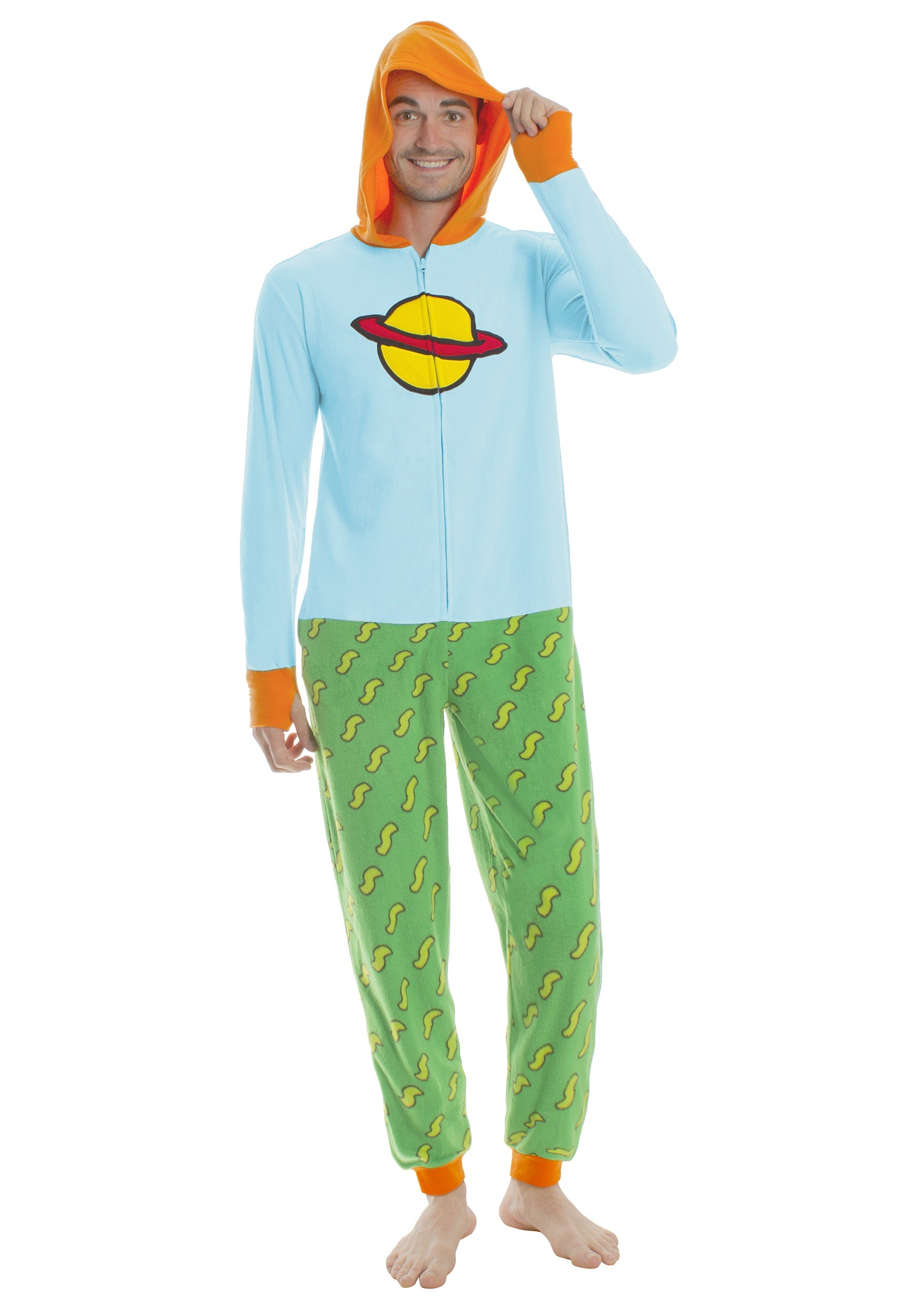 Rugrats Chuckie Union Suit Onesie for Adults