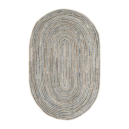 Safavieh Isador Solid Oval Rug, One Size , Blue