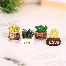4pcs Potted Plants Decorative Object