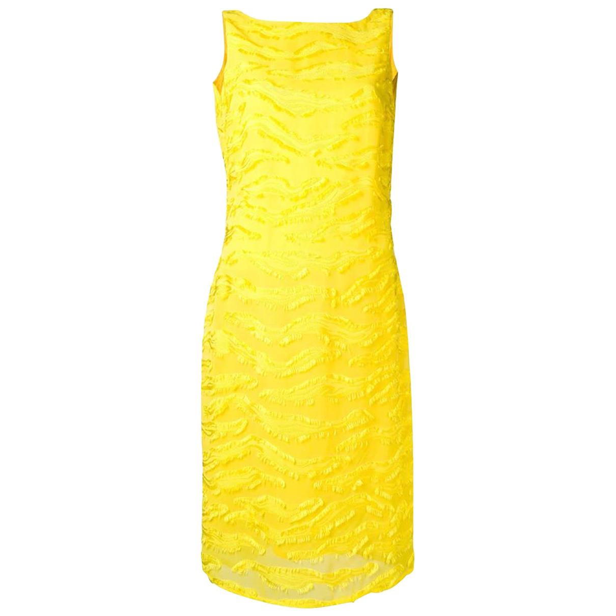 Versace \N Kleid in  Gelb Viskose