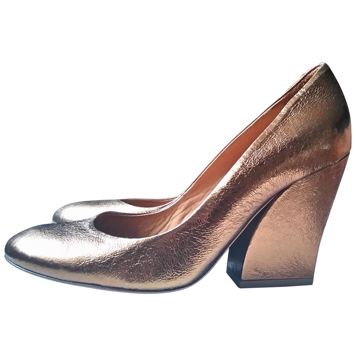 Hobbs - Escarpins   pour femme en cuir - dore