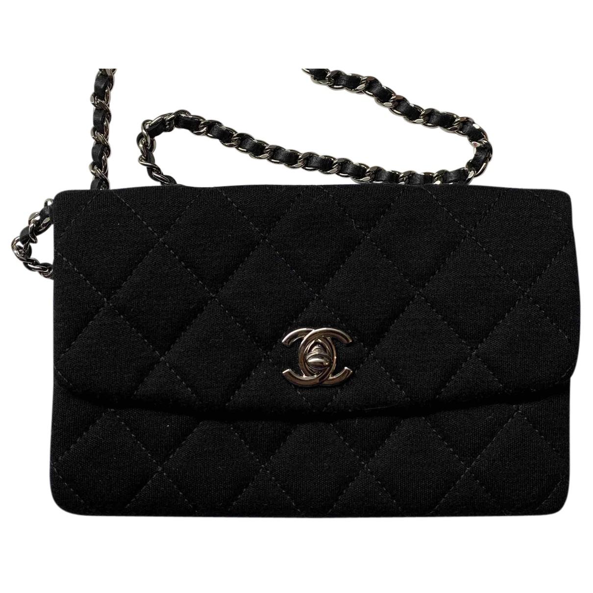 Chanel N Black Cloth Clutch bag for Women N