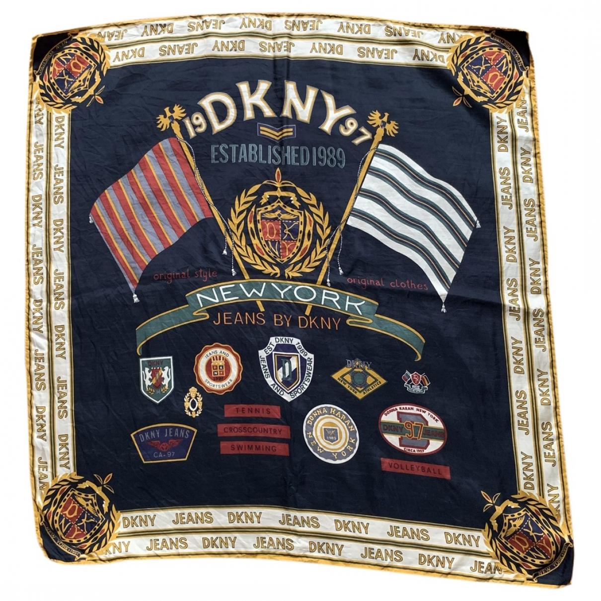 Dkny \N Navy Silk scarf for Women \N