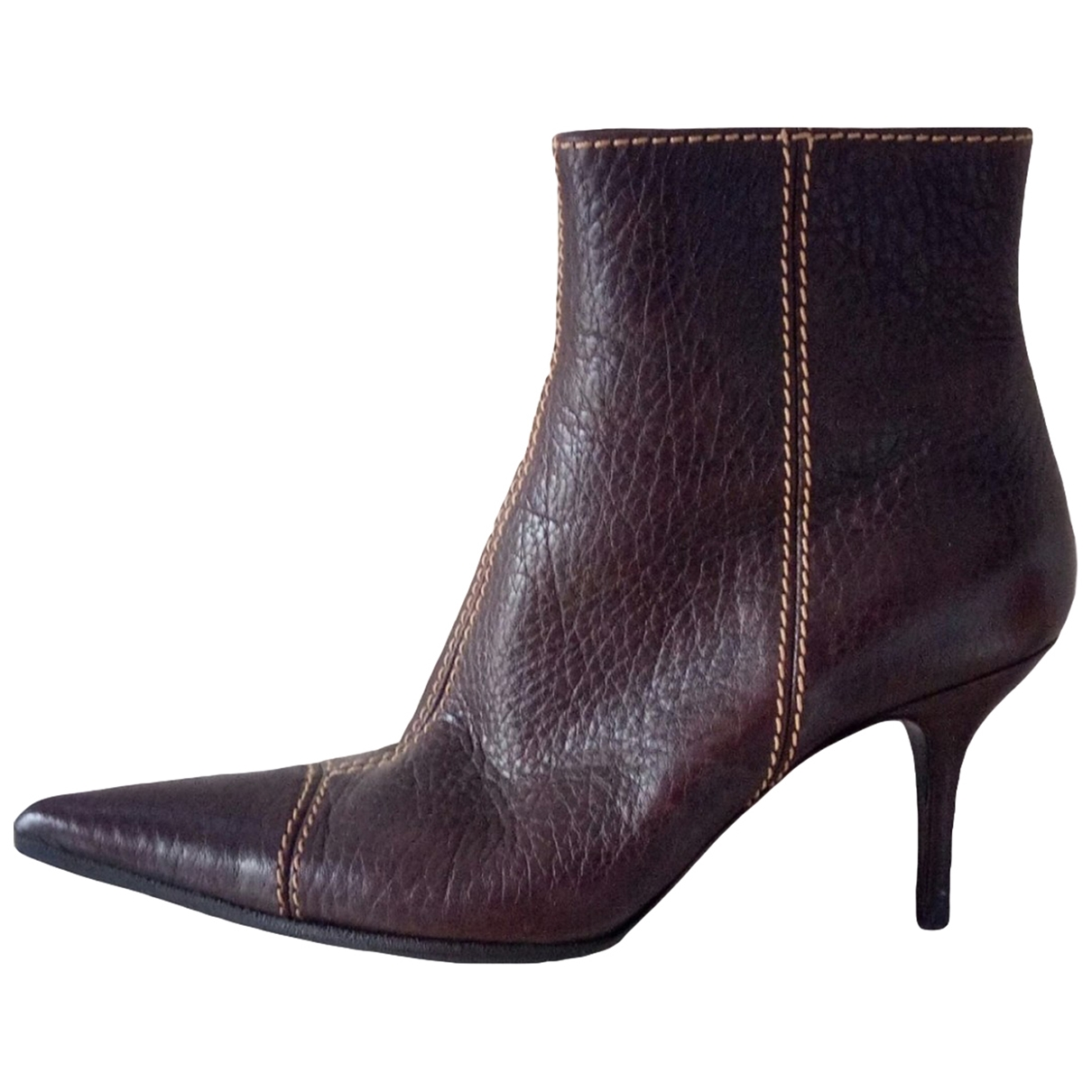 Dolce & Gabbana \N Brown Leather Ankle boots for Women 38 EU