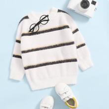 Strick Pullover mit Streifen