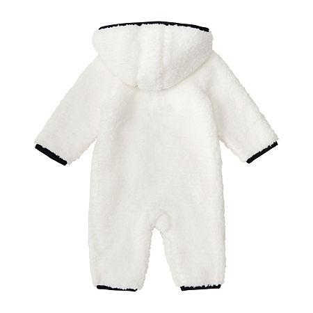 adidas Coverall Baby Girls Long Sleeve Romper, 12 Months , White