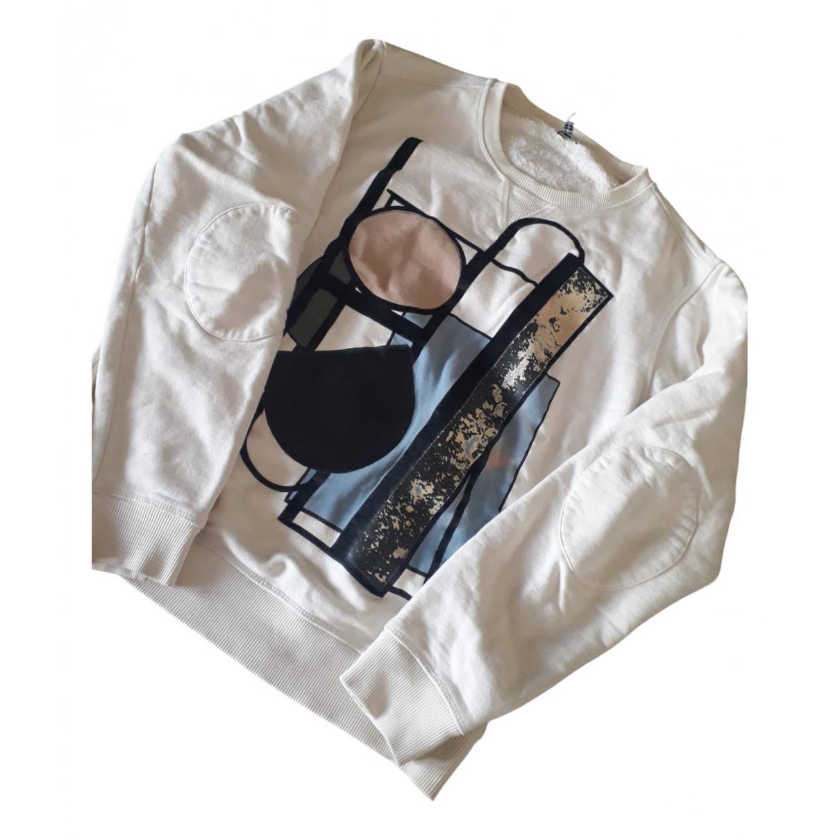 Loewe \N Pullover.Westen.Sweatshirts  in  Ecru Baumwolle