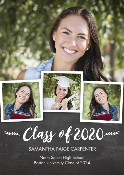 2020 Graduation Announcements 5x7 Cards, Standard Cardstock 85lb, Card & Stationery -2020 Class of Snapshots by Tumbalina