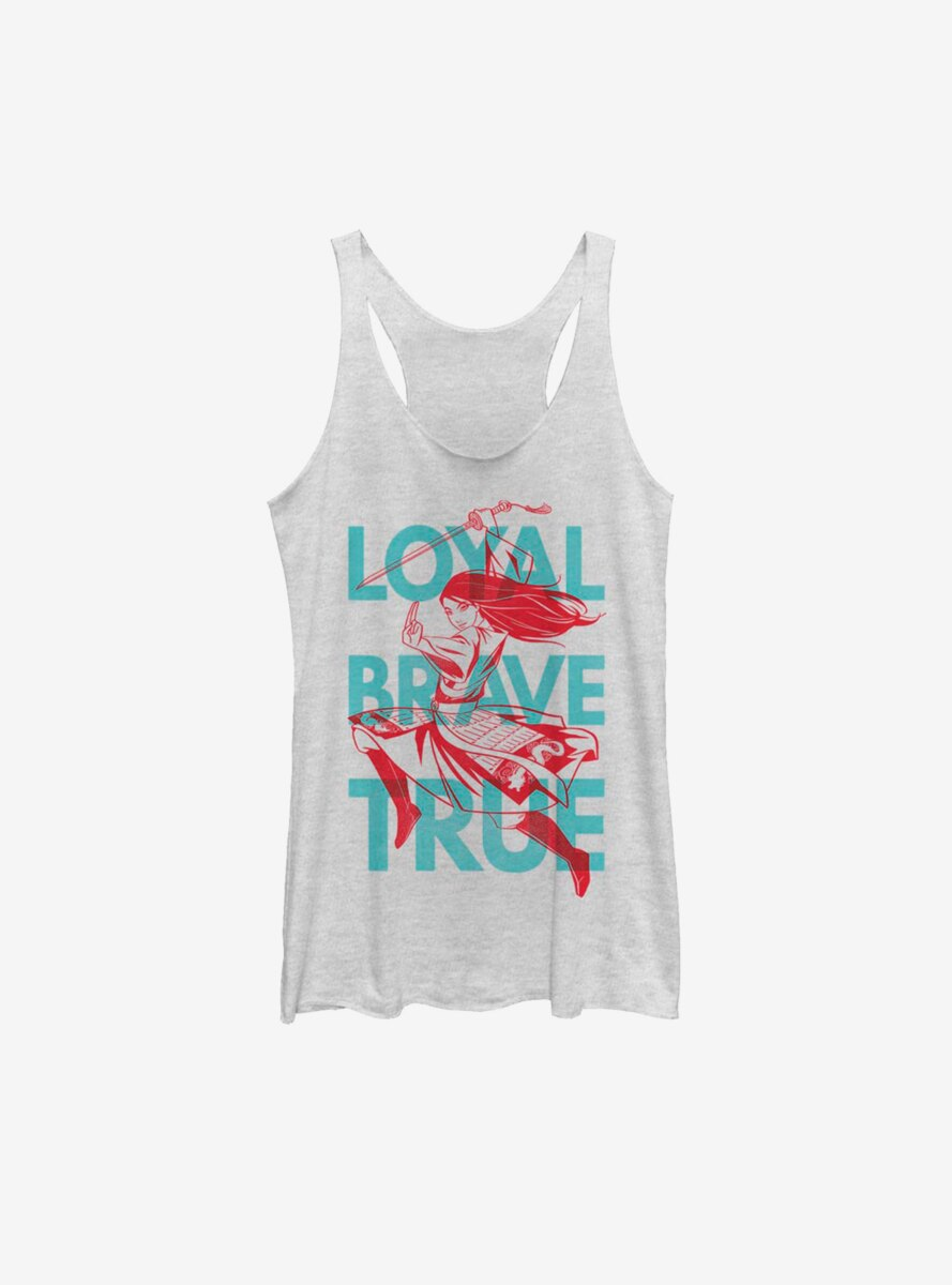 Disney Mulan Live Action Loyal Brave And True Womens Tank Top