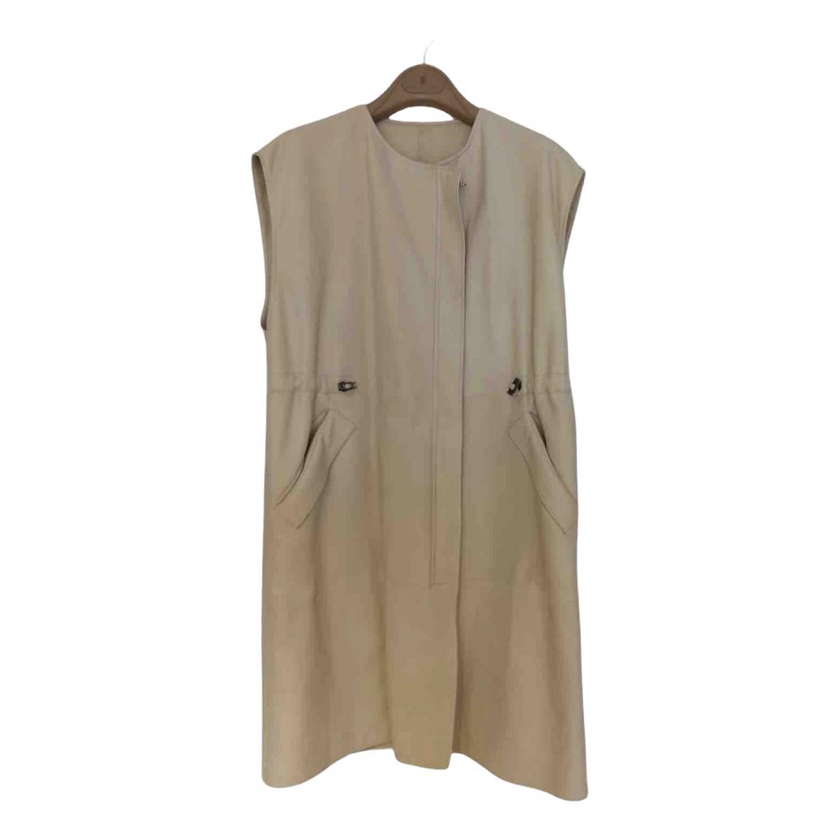 Brunello Cucinelli \N Leather dress for Women 40 IT
