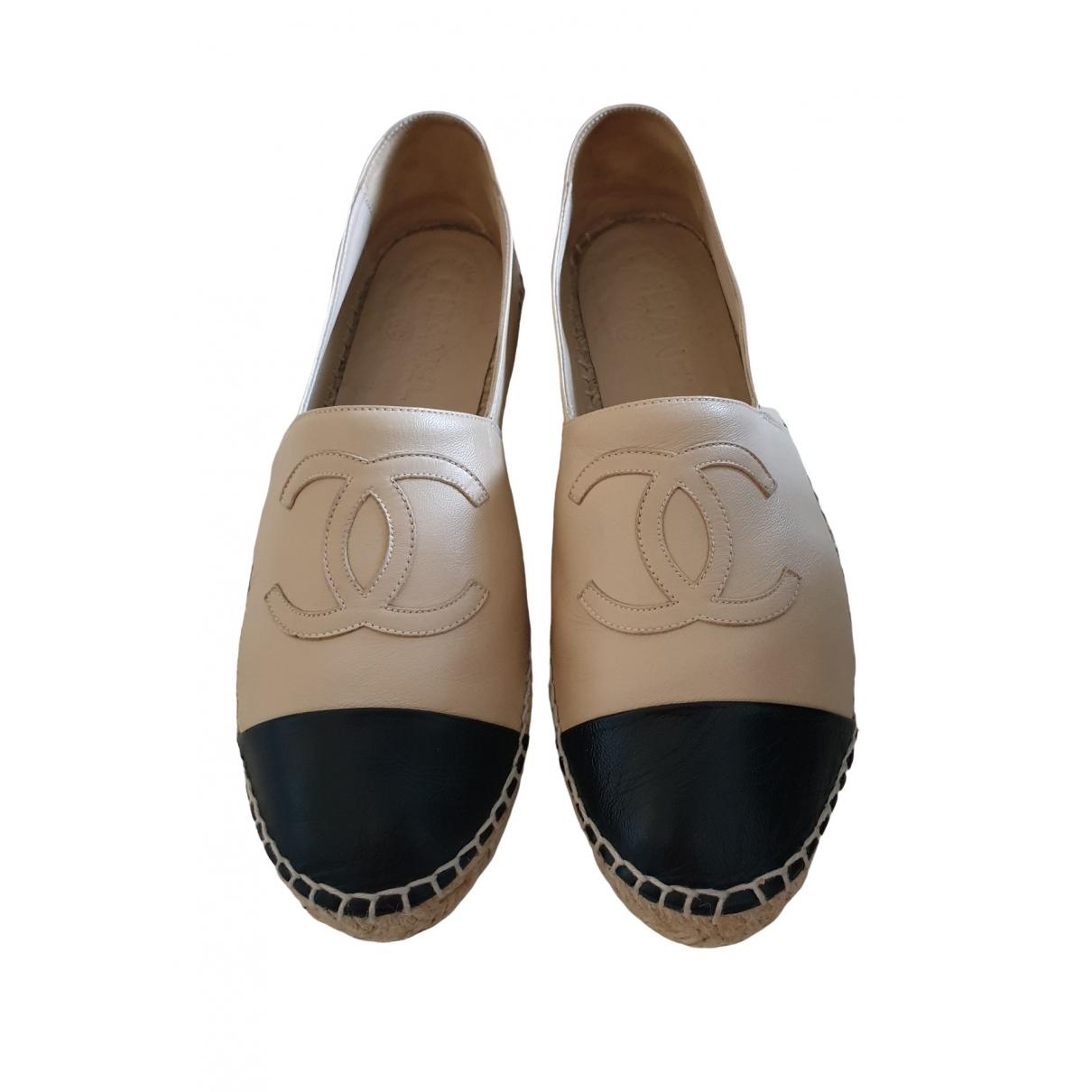 Chanel \N Espadrilles in  Beige Leder
