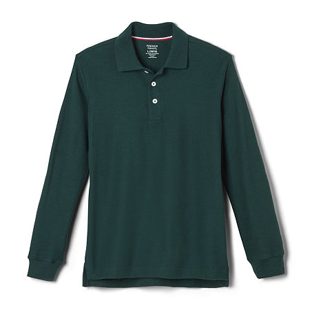 French Toast Little & Big Boys Long Sleeve Polo Shirt, Xx-large , Green