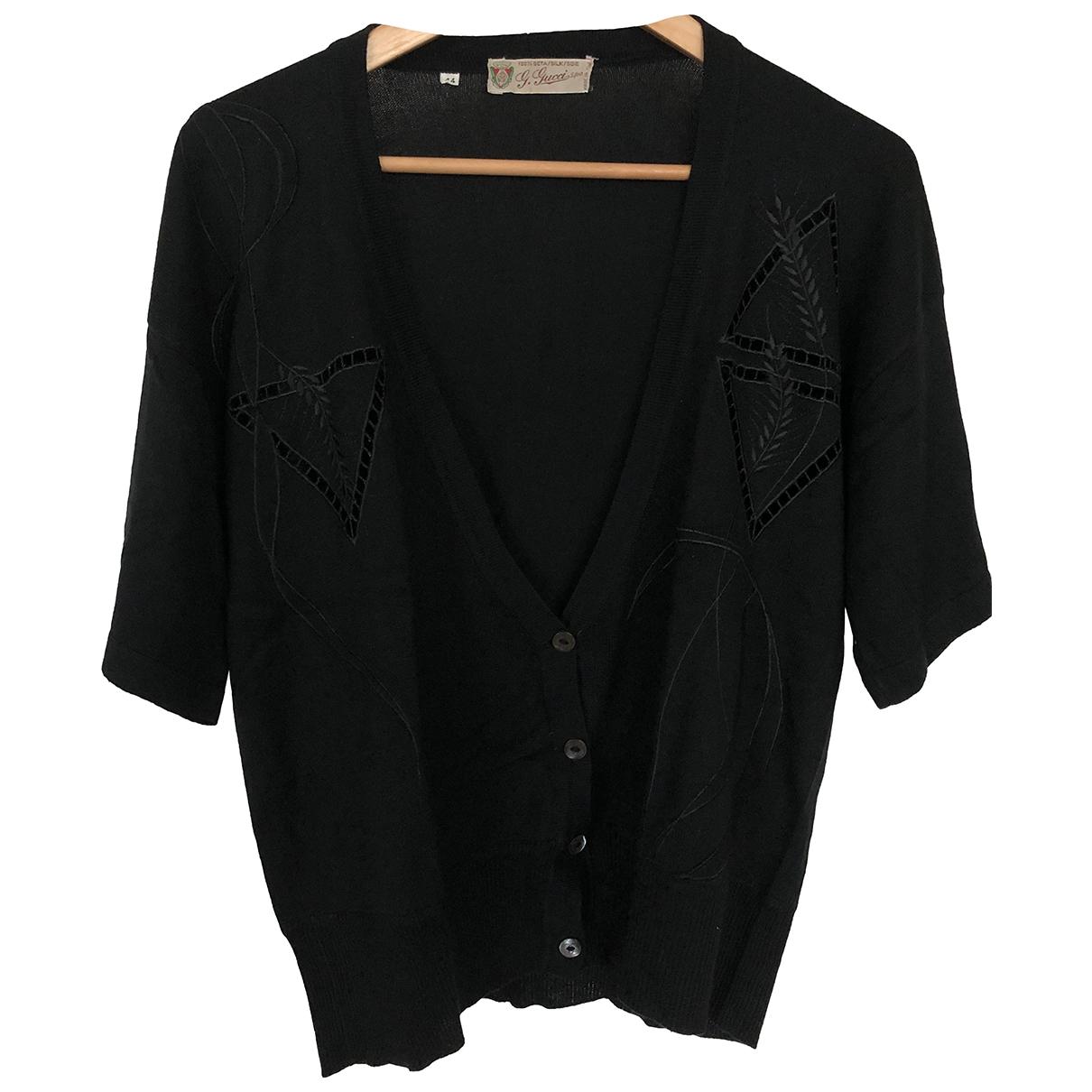 Gucci - Pull   pour femme en soie - noir