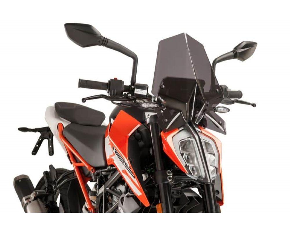 Puig 9514F Naked New Gen Windscreen - Dark Smoke KTM 390 Duke 2017
