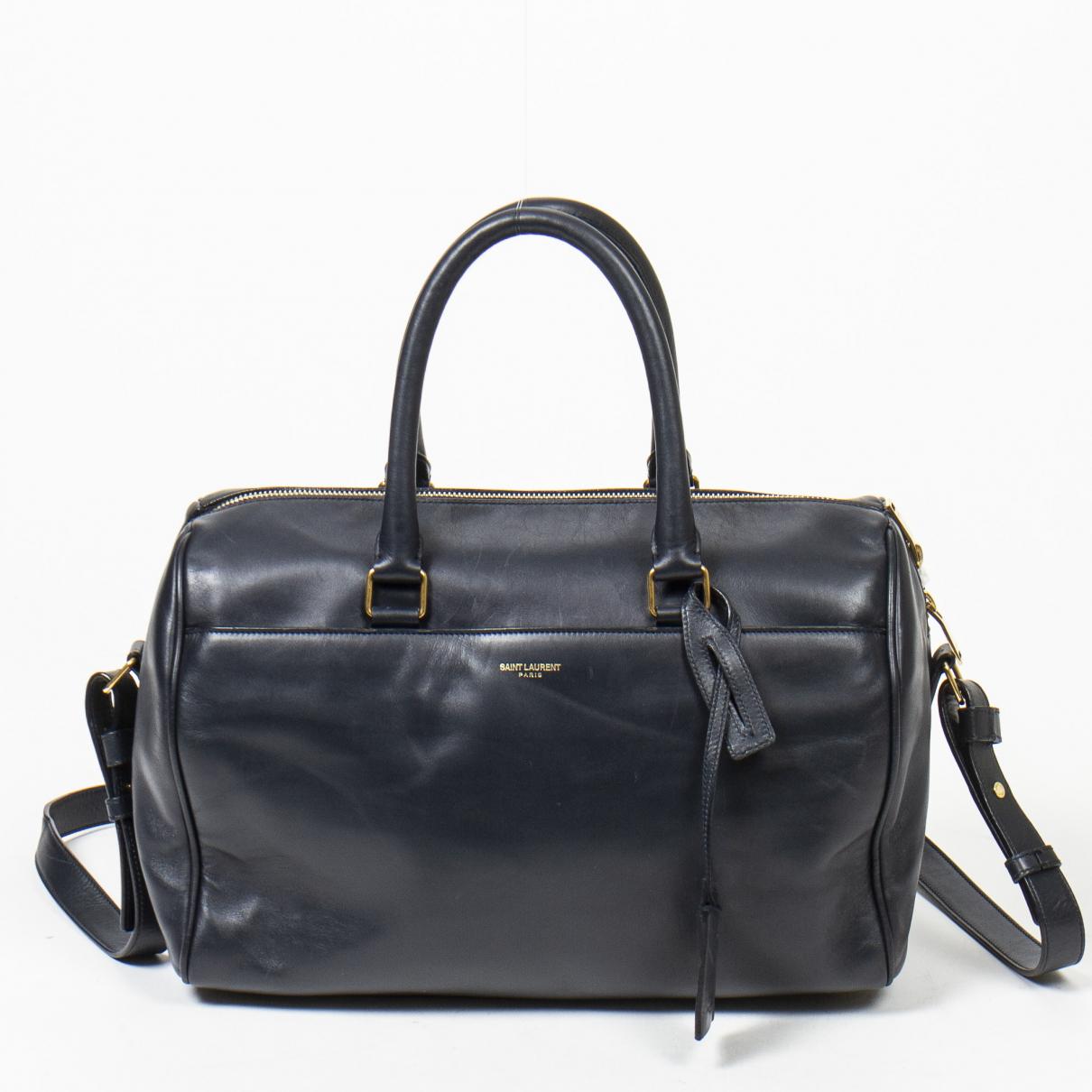 Yves Saint Laurent \N Blue Leather handbag for Women \N