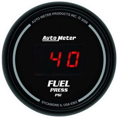 Auto Meter Sport-Comp Digital Fuel Pressure Gauge, 2-1/16 Inch - AMG6363
