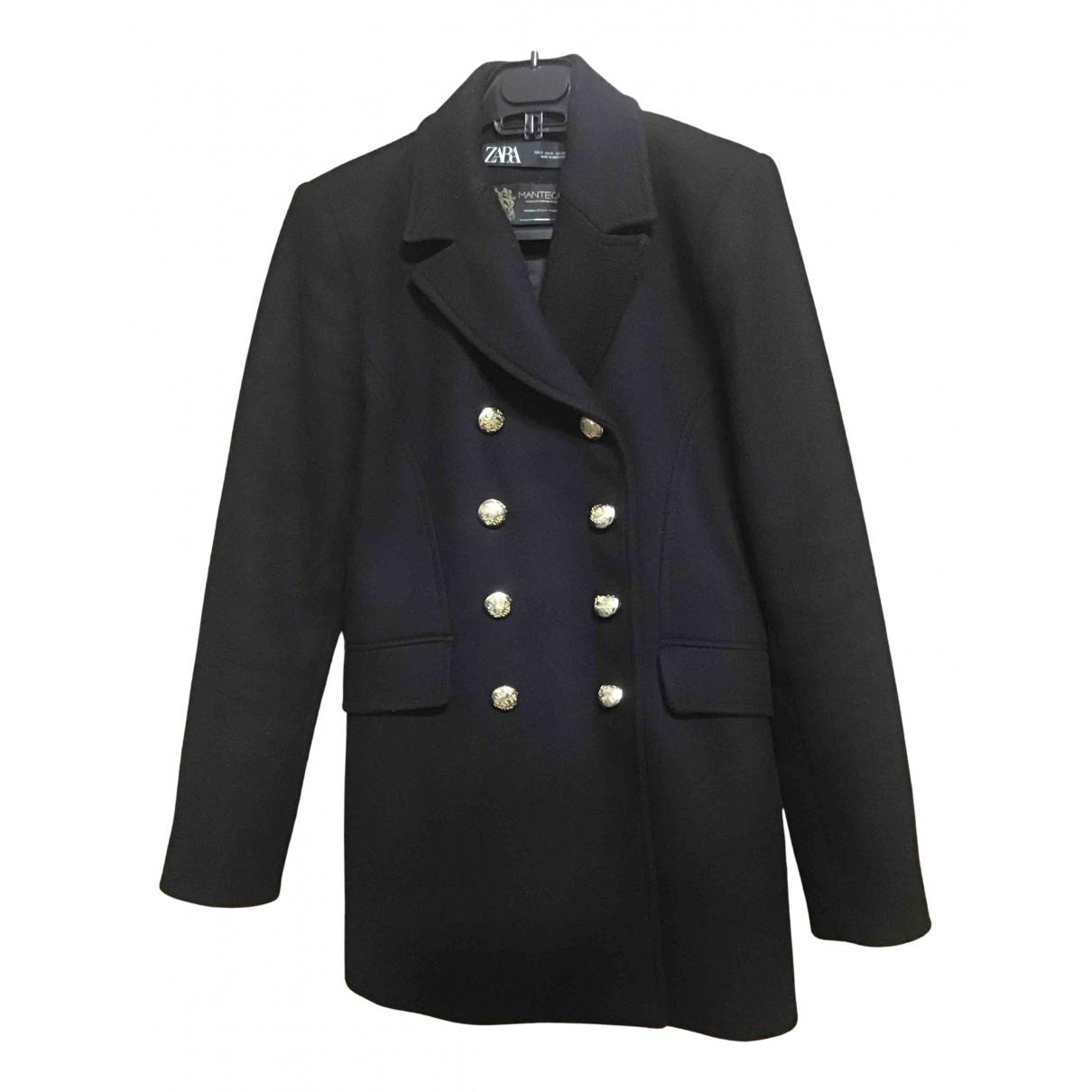 Zara \N Maentel in  Schwarz Wolle