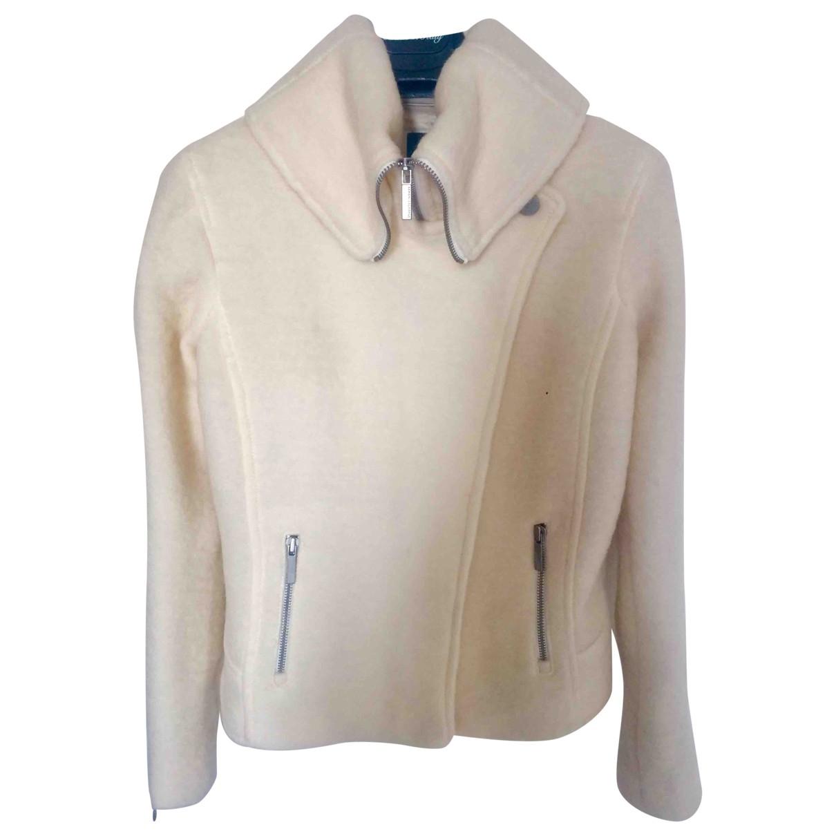 Emporio Armani - Veste   pour femme en laine - blanc