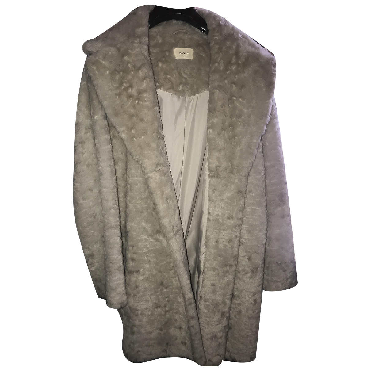 Ba&sh - Manteau   pour femme en fourrure synthetique - beige