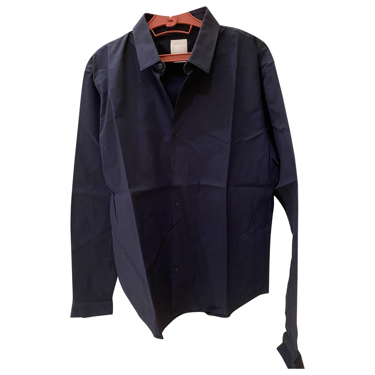Sandro \N Hemden in  Blau Baumwolle